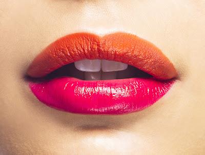 dwukolorowe usta