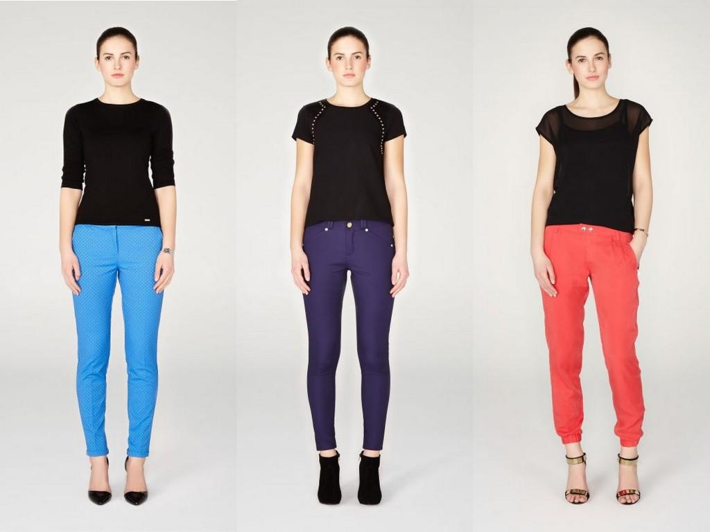 Kolorowe spodnie na wiosnę